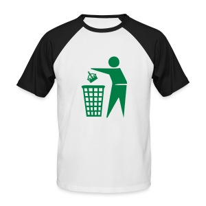 Bin the Monarchy - Men's Baseball T-Shirt
