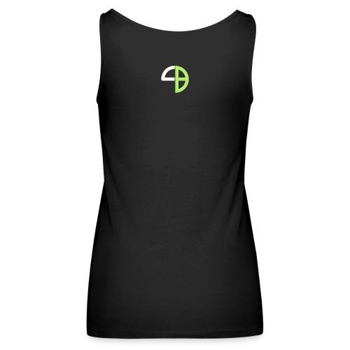 Frauen Schulterfreies Tank Top mit Logo hinten - Frauen Premium Tank Top