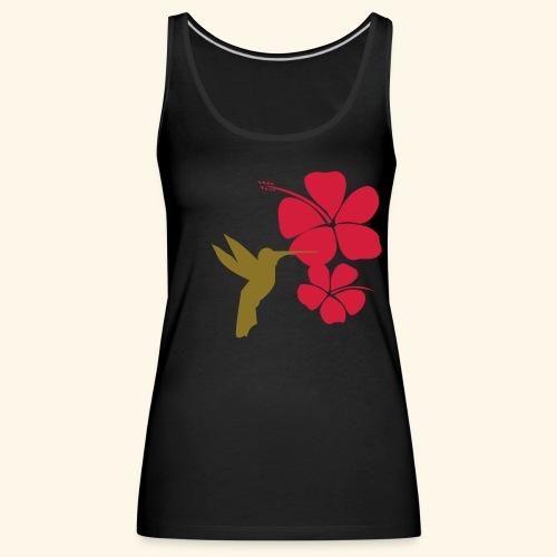 COLIBRI HIBISCUS HUMMINGBIRD t-shirt - Débardeur Premium Femme