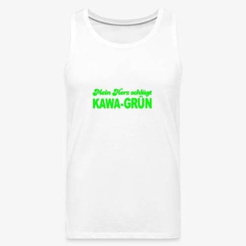 Mein Herz schlägt KAWA-grün - Männer Premium Tank Top