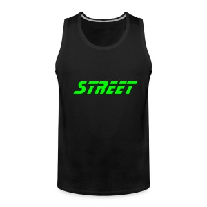 Street-Shirt (black-green) - Männer Premium Tank Top