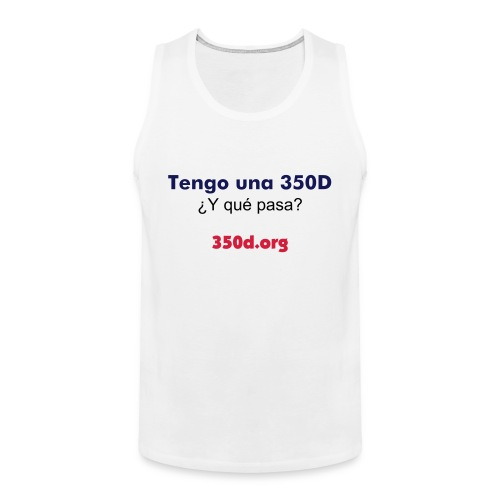 350D forever White - Tank top premium hombre