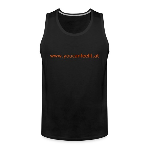 Tank Top O (schwarz/orange) - Männer Premium Tank Top