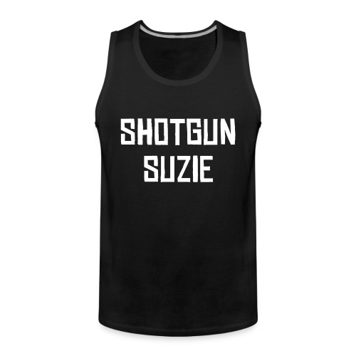 Mens Black Tank - Premium singlet for menn