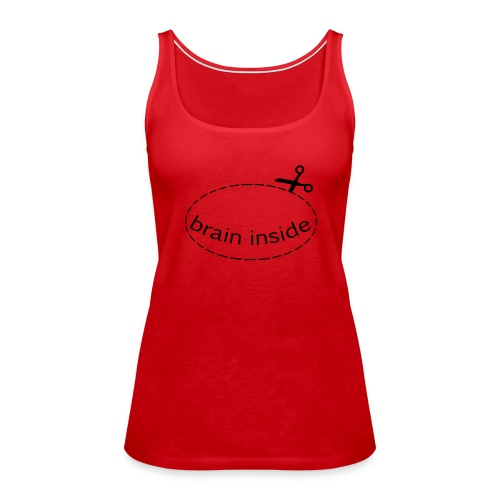 Lochshirt Brain - Tank Top/Flex - Frauen Premium Tank Top