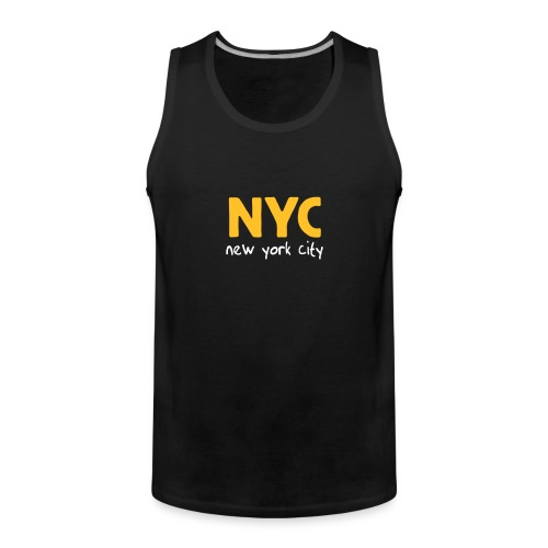 "Tank Top ""NYC"" oliv - Männer Premium Tank Top"