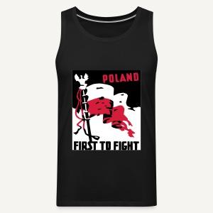 First to fight - Tank top męski Premium
