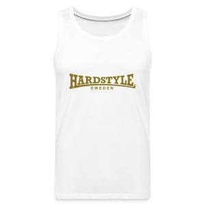 Hardstyle Sweden - Guldtryck - Flera tröjfärger - Premiumtanktopp herr