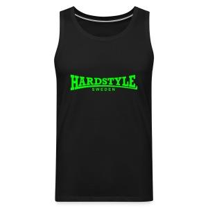 Hardstyle Sweden - Neongrön - Flera tröjfärger - Premiumtanktopp herr