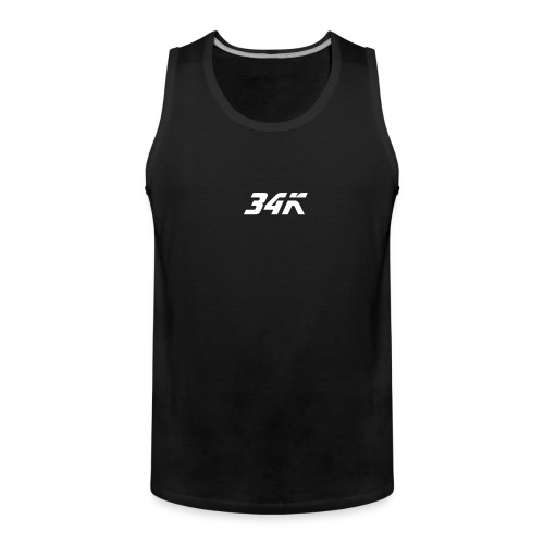 "White ""34K-The King Tank Top"" - Men's Premium Tank Top"