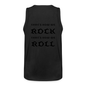 That's How We Rock & Roll - Olive Green Sleeveless Top - Men's Premium Tank Top