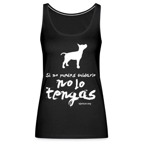 mod. Ocan blanco mujer nadadora - Camiseta de tirantes premium mujer