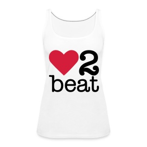 Vrouwen Premium tank top - Heart2Beat shirt van team Isabelle, team rood. The ultimate dance battle!