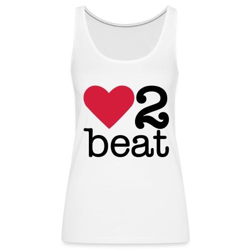 Vrouwen Premium tank top - Heart2Beat shirt van team Isabelle, team rood. The ultimate dance battle!