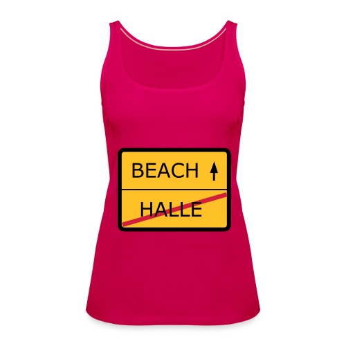 No Halle, just Beach - Frauen Premium Tank Top
