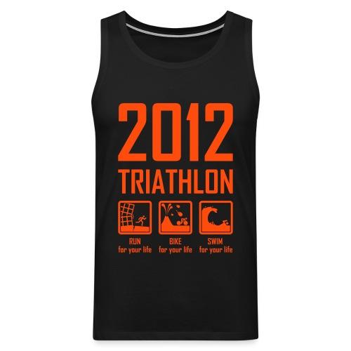 Triathlon - neon oranje - Mannen Premium tank top