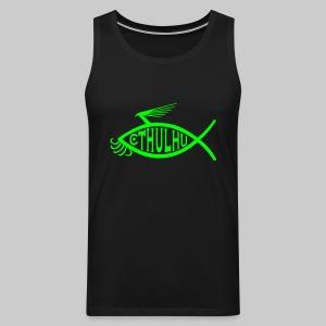 MSM1: Cthulhu-Fish-Emblem (monochrome) - Men's Premium Tank Top
