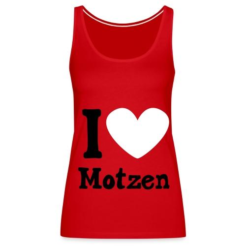 I Love Motzen (Top, rot) - Frauen Premium Tank Top