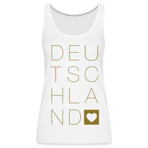 Ein Herz für Deutschland - gold - Frauen Premium Tank Top
