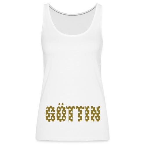 Punkt Göttin in Gold auf zartem Weiss - Frauen Premium Tank Top