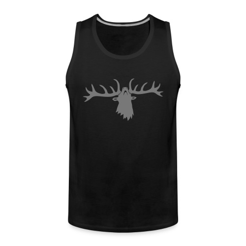 tiershirt t-shirt hirsch röhrender brunft geweih elch stag antler jäger junggesellenabschied - Männer Premium Tank Top