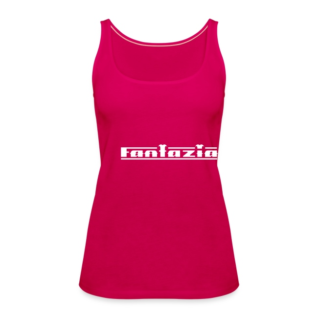 Fantazia Spaghetti top with logos to front and back Glow in the dark