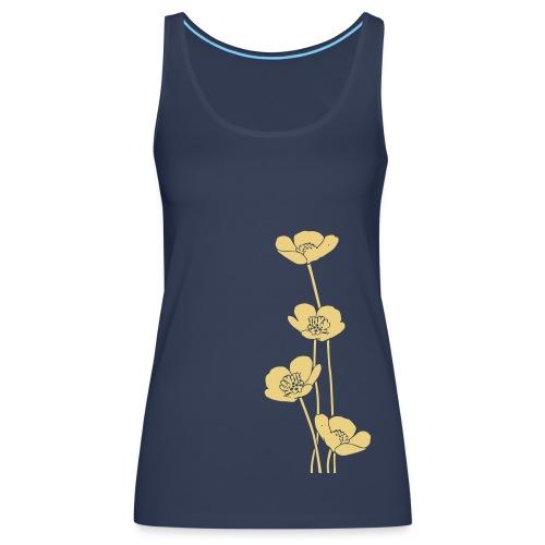 Canotta con fiori - Canotta premium da donna