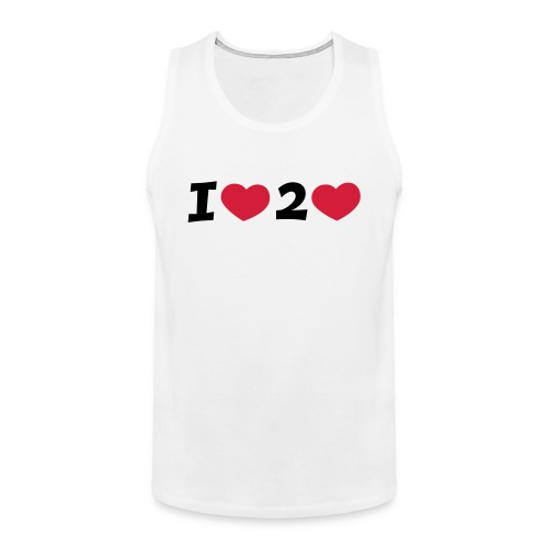 I LOVE TO LOVE Shirt - Männer Premium Tank Top