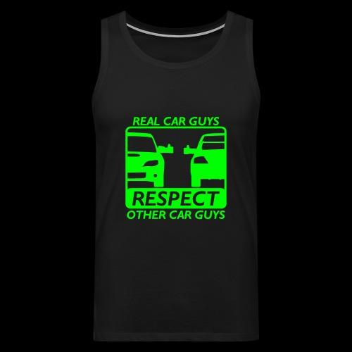 Real car guys - grüner Druck - Männer Premium Tank Top