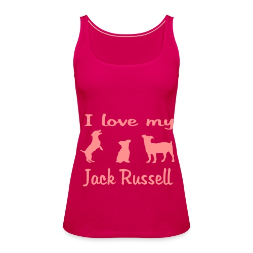 I Love my Jack Russell - Frauen Premium Tank Top