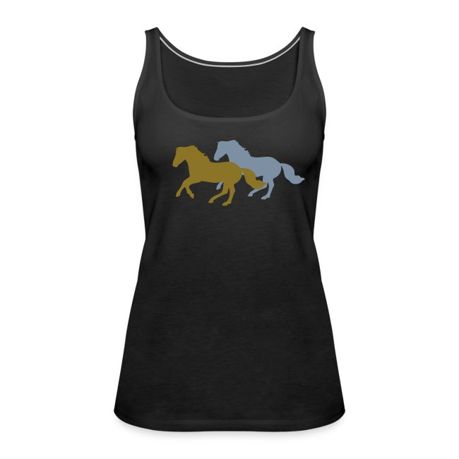 Gold and Silver Galloping Horses fashion top