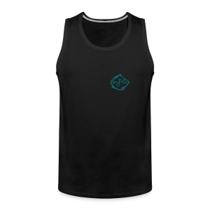 MPS Free Rider - Emerald Green Summershirt for Men (Front and Backprint) - Männer Premium Tank Top