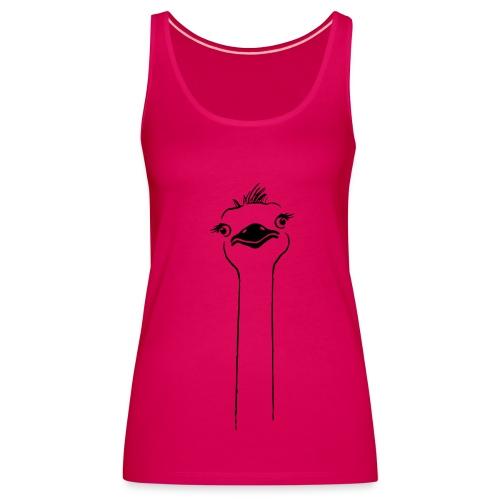 tier t-shirt vogel strauss ostrich langhals hals lang schnabel - Frauen Premium Tank Top