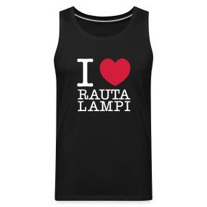 I love Rautalampi - hihaton - Miesten premium hihaton paita