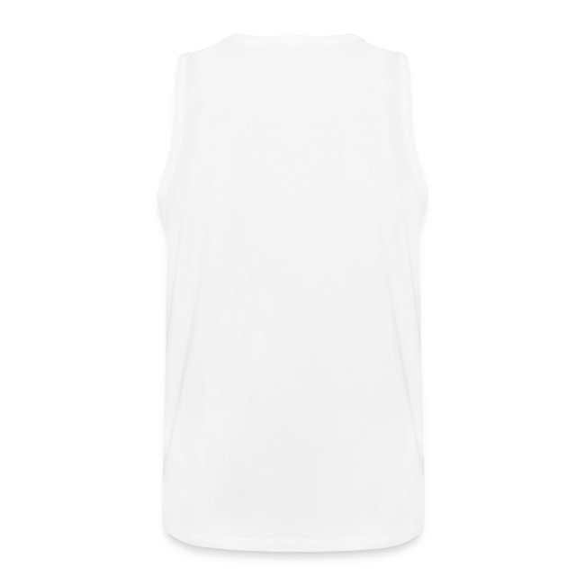 Herren T-Shirt ärmellos Weiß