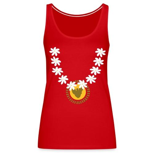 Moorea gold collier tiare tahiti - Débardeur Premium Femme