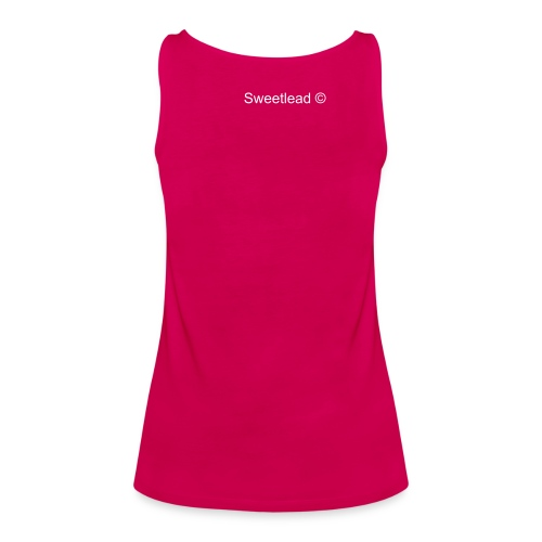 """Women's Premium Tank Top - Spagetti Ladies Top (v.small """"Sweetlead"""" on the back)"""