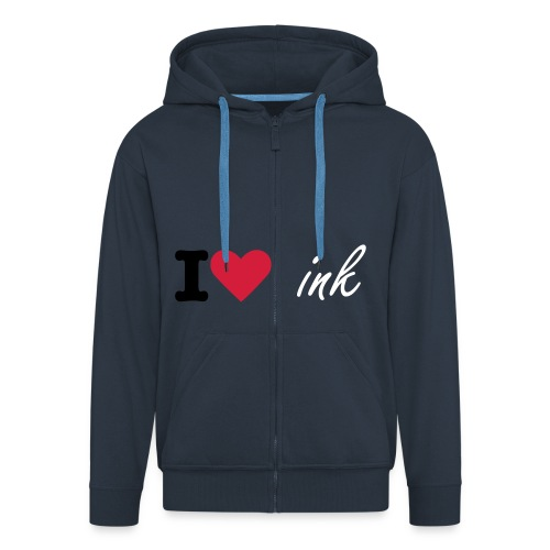 i love ink - Premium Hettejakke for menn