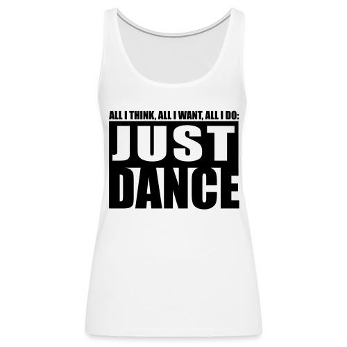 [JUST DANCE] blanc - Women's Premium Tank Top