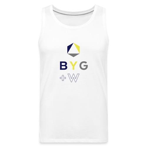 BYG+White Logo TANK - Men's Premium Tank Top