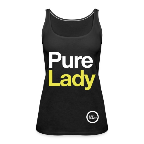Pure Lady (White/Yellow) [Female] - Women's Premium Tank Top
