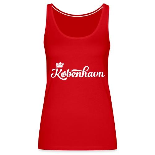 København - slyngende bogstaver (glat print) - Women's Premium Tank Top
