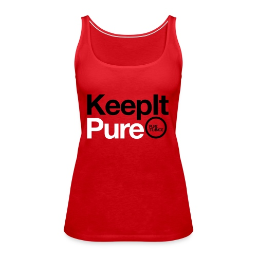 Keep It Pure Black /White [Female] - Women's Premium Tank Top