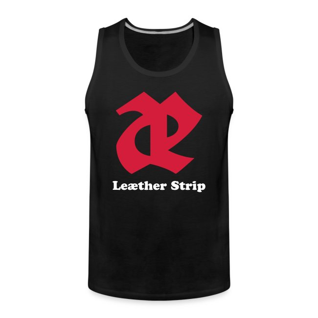 Leaether Strip - Logo 2 : Muscle Shirt - black