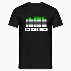 Black Equalizer audio player dj Men's T-Shirts