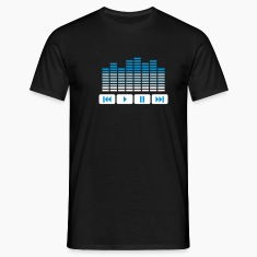 Black Equalizer DJ music player Men's T-Shirts