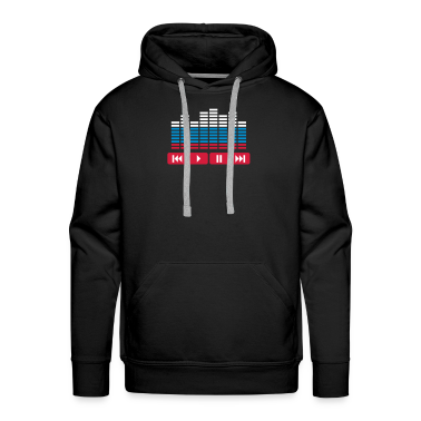 Black Equalizer DJ music player Hoodies & Sweatshirts