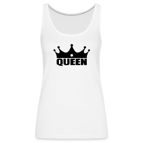 Queen débardeur noir/blanc - Débardeur Premium Femme