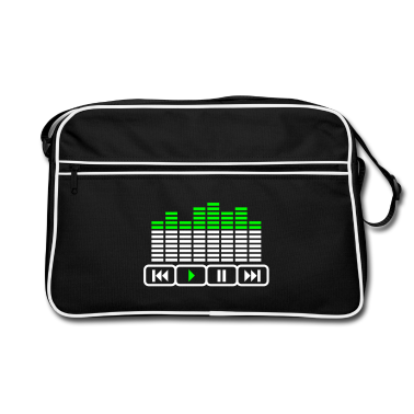 Black/white player music Equalizer DJ tasten Bags