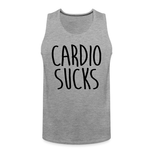 cardio sucks - Männer Premium Tank Top